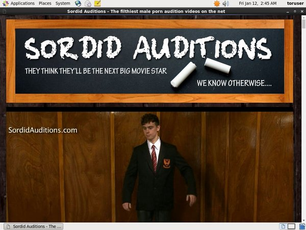 Promo Sordid Auditions