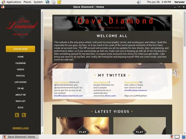 Theofficialdavediamond.com Direct Pay