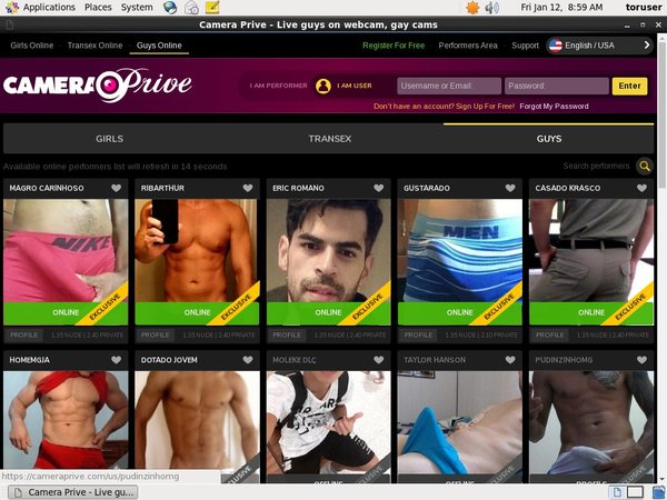 Camera Prive Gay Paysite Passwords